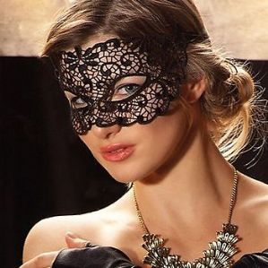 Black Lace Mask - Sexy Masquerade Mask | Masks and Tiaras